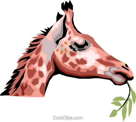 Giraffe Royalty Free Vector Clip Art illustration anim1302
