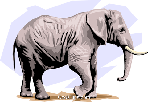 Elephants Royalty Free Vector Clip Art illustration anim1306