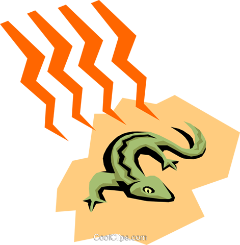 Lizards Royalty Free Vector Clip Art illustration anim1308
