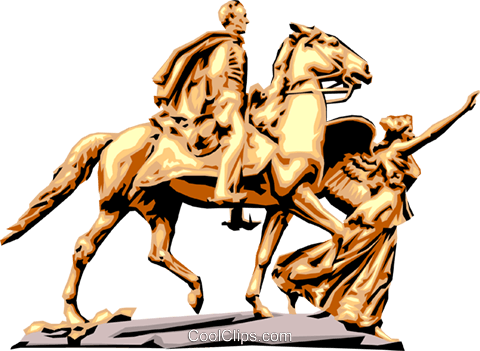 Statue Royalty Free Vector Clip Art illustration arts0280