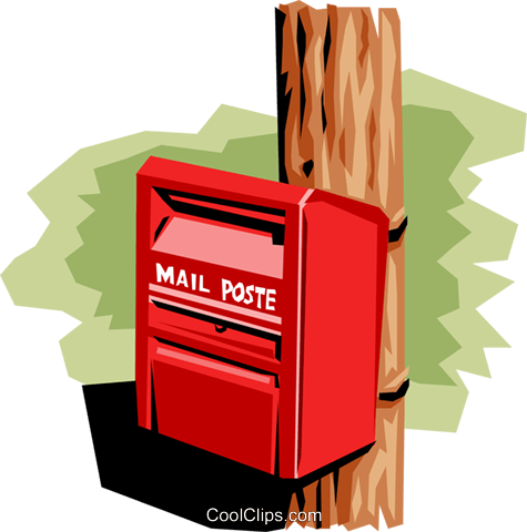 Mailbox Royalty Free Vector Clip Art illustration busi0808