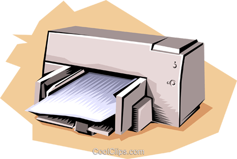 Printer Royalty Free Vector Clip Art illustration busi0809