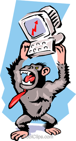 Gorillas Royalty Free Vector Clip Art illustration cart1444