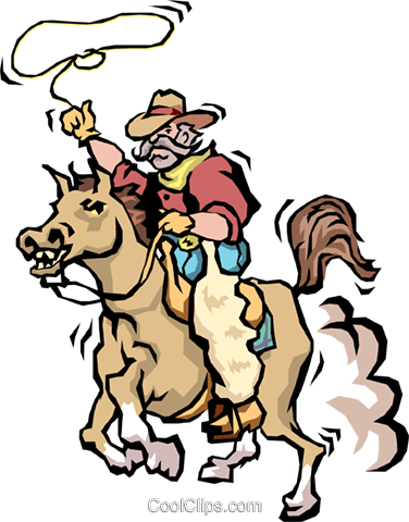 Cowboys Royalty Free Vector Clip Art illustration cart1502