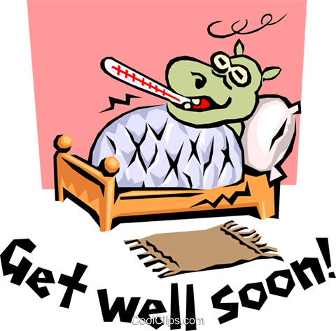 Get Well Soon! Royalty Free Vector Clip Art illustration even0603