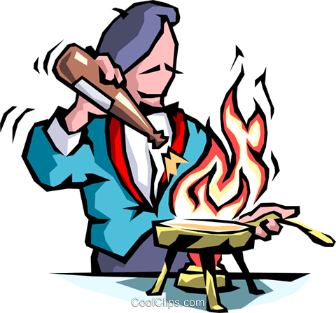 Chef cooking Royalty Free Vector Clip Art illustration food0655