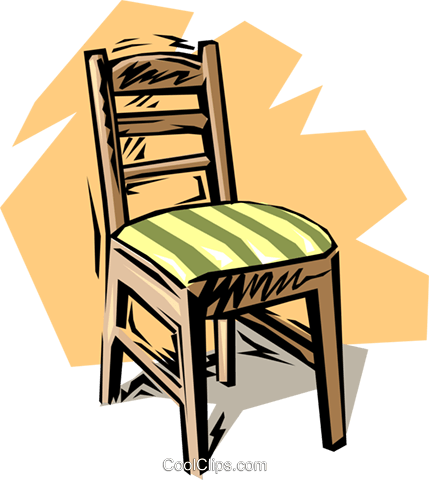 Chair Royalty Free Vector Clip Art illustration hous0829
