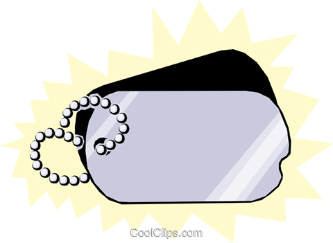 Dog tags Royalty Free Vector Clip Art illustration mili0083