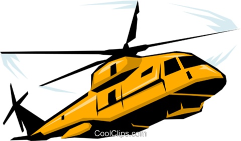 Military Helicopter Royalty Free Vector Clip Art illustration mili0086
