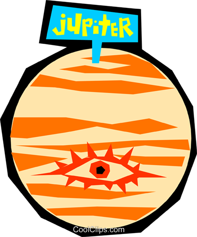 Planet Jupiter Royalty Free Vector Clip Art illustration natu0584