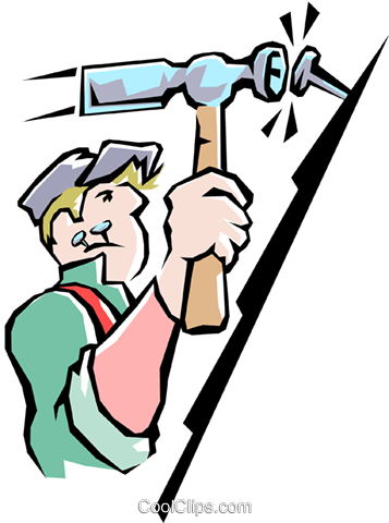 Handyman Royalty Free Vector Clip Art illustration peop1666