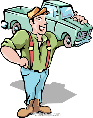 Handyman Royalty Free Vector Clip Art illustration peop1681