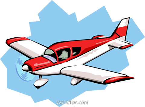Airplane Royalty Free Vector Clip Art illustration tran0509