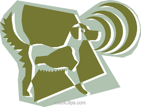 Dog Royalty Free Vector Clip Art illustration anim1316