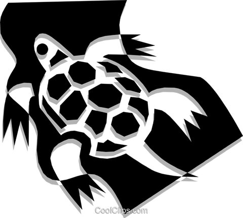 Turtle Royalty Free Vector Clip Art illustration anim1321