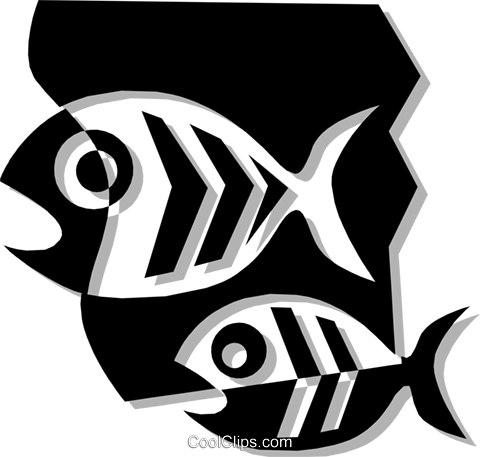 Fish Royalty Free Vector Clip Art illustration anim1322