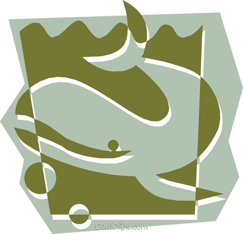 Whale Royalty Free Vector Clip Art illustration anim1323