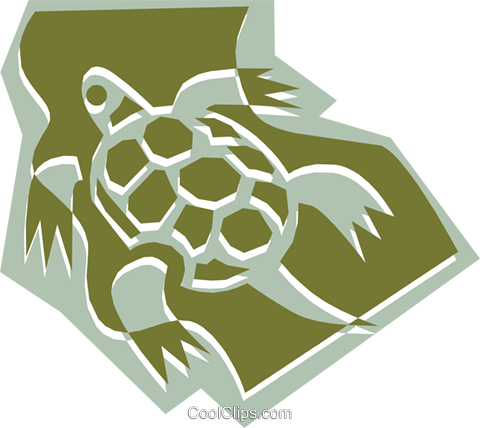 Turtle Royalty Free Vector Clip Art illustration anim1325