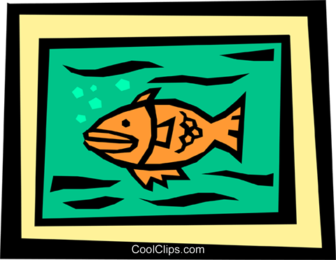 Fish Royalty Free Vector Clip Art illustration anim1331