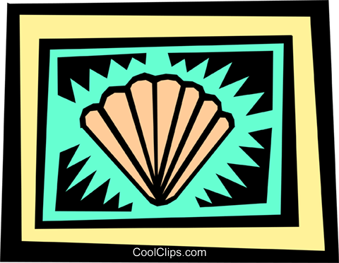 Seashells Royalty Free Vector Clip Art illustration anim1333