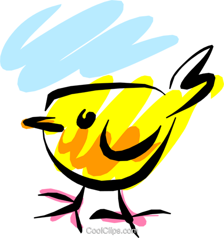 Birds Royalty Free Vector Clip Art illustration anim1339