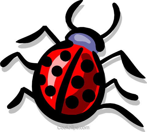 Ladybugs Royalty Free Vector Clip Art illustration anim1342