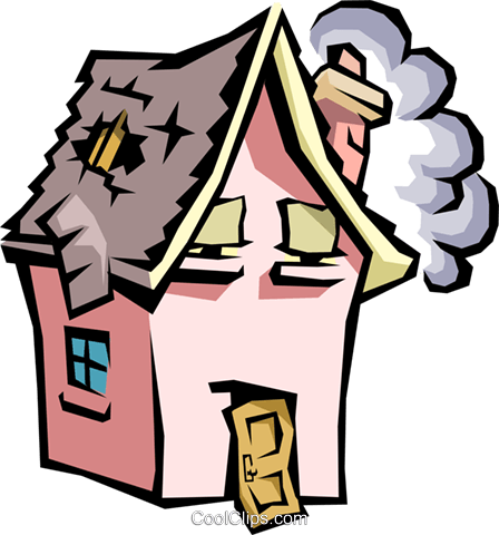 House with caricature face Royalty Free Vector Clip Art illustration arch0333