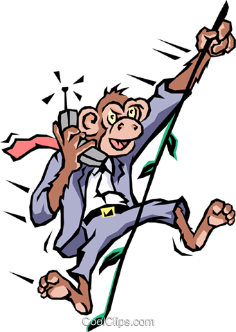 Monkey business Royalty Free Vector Clip Art illustration cart1469
