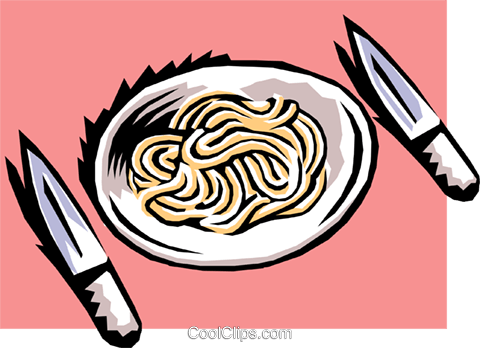 Pasta Royalty Free Vector Clip Art illustration food0695