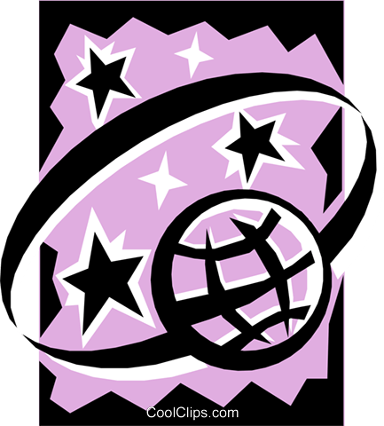 Planets and stars Royalty Free Vector Clip Art ...