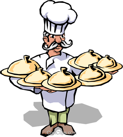 Chef Royalty Free Vector Clip Art illustration peop1692