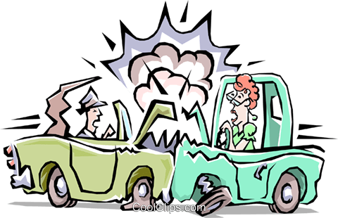 Traffic accident Royalty Free Vector Clip Art illustration tran0512
