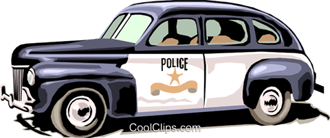 Police car Royalty Free Vector Clip Art illustration tran0513