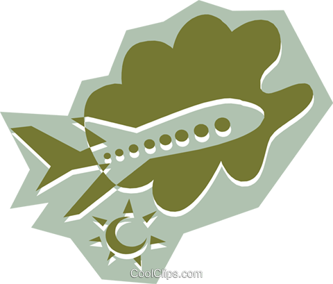 Airplane Royalty Free Vector Clip Art illustration tran0532