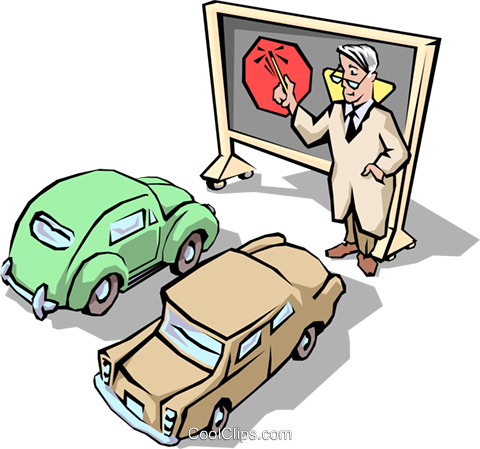 Traffic School Vecteurs de stock et clip-Art vectoriel tran0537