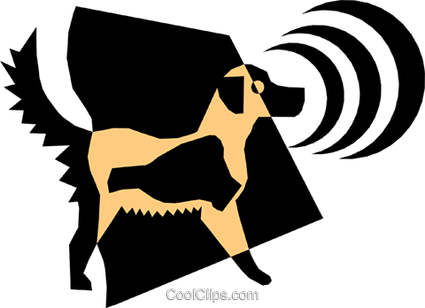 Dog Royalty Free Vector Clip Art illustration anim1346