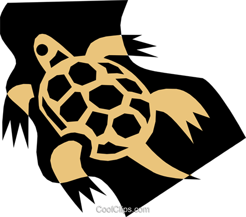 Turtle Royalty Free Vector Clip Art illustration anim1351