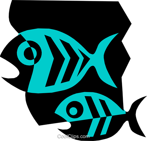 Fish Royalty Free Vector Clip Art illustration anim1352