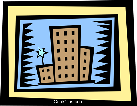 buildings Royalty Free Vector Clip Art illustration arch0335