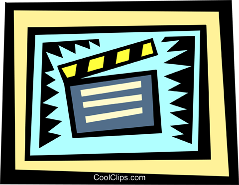 Clapper boards Royalty Free Vector Clip Art illustration arts0297