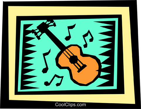 Guitars Royalty Free Vector Clip Art illustration arts0298
