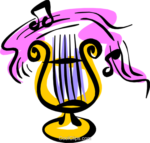 Harp Royalty Free Vector Clip Art illustration arts0299