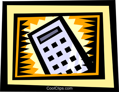 Calculators Royalty Free Vector Clip Art illustration busi0836