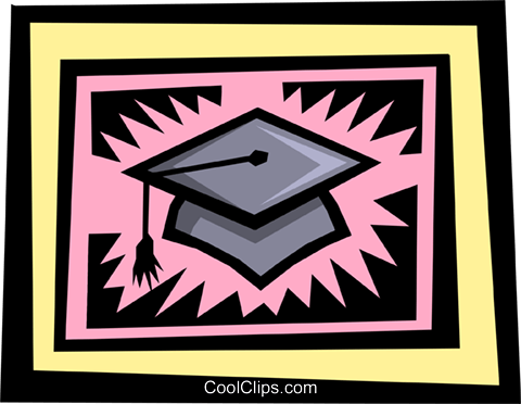 graduate's cap Royalty Free Vector Clip Art illustration busi0844