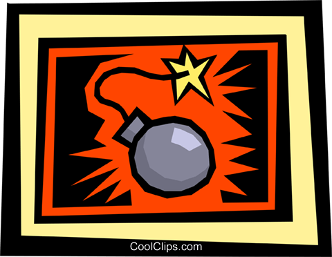 time bomb Royalty Free Vector Clip Art illustration busi0845