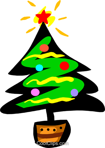 Christmas trees Royalty Free Vector Clip Art illustration even0618