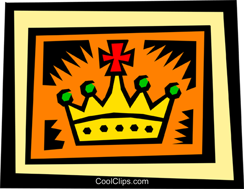 Crown Royalty Free Vector Clip Art illustration hous0853