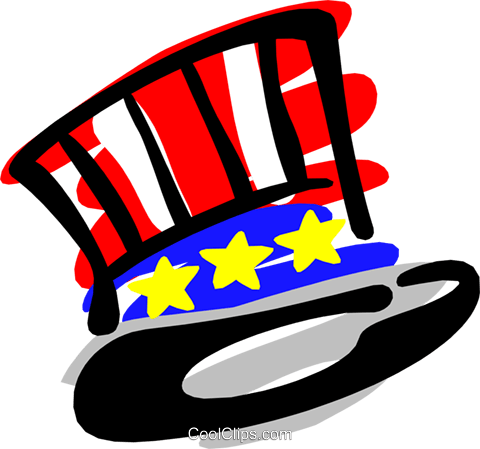Uncle Sam's Royalty Free Vector Clip Art illustration hous0861