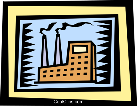 Factories Royalty Free Vector Clip Art illustration indu0610