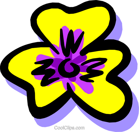 flower Royalty Free Vector Clip Art illustration natu0597